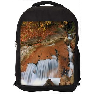Water Flowing Down Digitally Printed Laptop Backpack