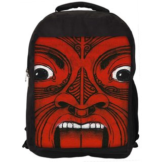 Aztec Face Digitally Printed Laptop Backpac