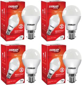Eveready 7W 6500K Cool Day Light Pack of 4 Led Bulbs