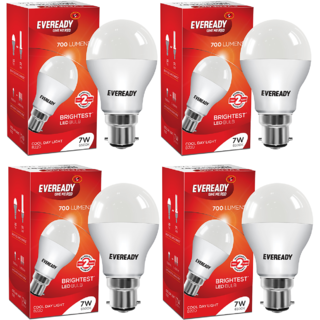 Eveready 7W 6500K Cool Day Light Pack of 4 Led Bulbs