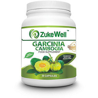 Zukewell Garcinia Cambogia Extract (HCA 500 mg) for Weight Loss Management-30 Pure Veg Capsules Pack of 1
