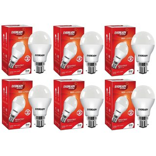 Eveready 9W 6500K Cool Day Light Pack of 6 Led Bulbs