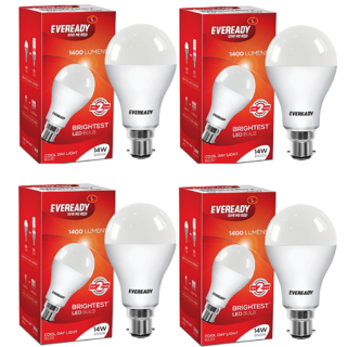 Eveready 14W 6500K Cool Day Light Pack of 4 Led Bulbs