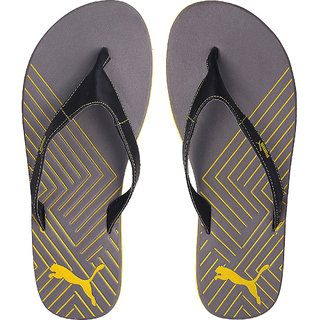 dccc734014f Buy Puma Men s Grey and Yellow Flip Flops Online   ₹1399 from ShopClues