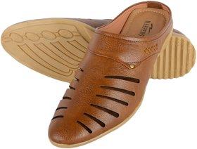 Aaiken Men Brown Faux Leather Loafers