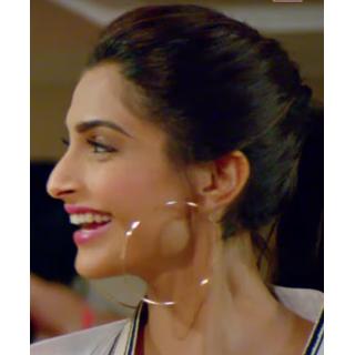 f3fc0197d33a5 Buy Sonam Kapoor Inspired Silver Big Hoop Earrings Online @ ₹350 ...