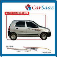 "Car GRAPHICS/DECALS ""ALTO CELEBRATION""(GL – 094M)For MARUTI ALTO"