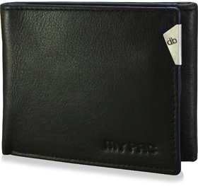 mypac-cruise Genuine Leather trifold wallet-Best gift for men-Black  C11578-1