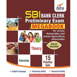 SBI Bank Clerk Preliminary Exam MegaBook - (Guide + 15 Practice Sets)