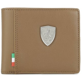 Puma Men Brown Genuine Leather Wallet (Synthetic leather/Rexine)
