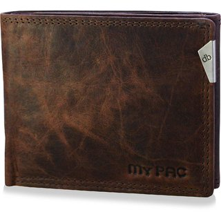 mypac-cruise Genuine Leather trifold wallet -Best gift for men- Brown C11578-2