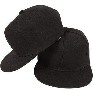 09ed59c809c Buy PLAIN Black Cap For Men Snapback Cap  Baseball Caps  Hip Hop Cap Online  - Get 69% Off