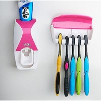 traders5253 Dust-proof Toothpaste Dispenser Squeezer Kit assorted colour(Upto 500 ml)