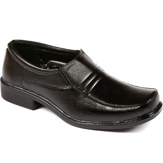 Stylos Men's 6002 Black  Leather Shoes