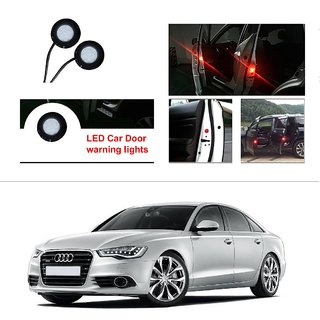 AutoStark 2pc Car Door Opening Warning Flasher Car Red LED Light Bright  Flash For Audi A6