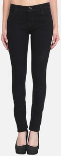 Klick2Style Slim Fit Streachable Ladies Jeans Black