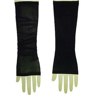 Plain Arm Sleeves for Bikers Black