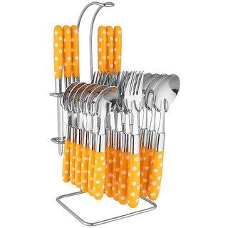 Shhira Elegante Yellow Cutlery Set - 24 Pcs. SL-114
