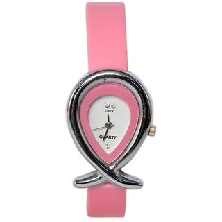 women fancy Pink Designer Casual Analog Girls and ladies watch.