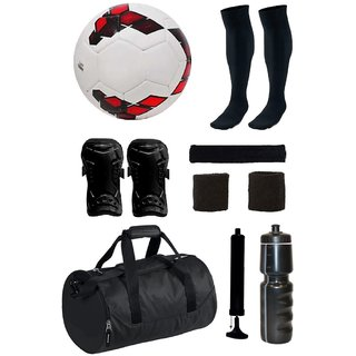 Combo of Premier League Red/Purple Football (Size-5) with 7 Other items