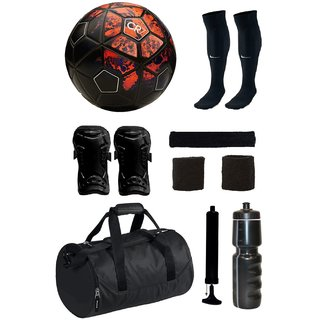 Combo of CR7 Red/Black Football (Size-5) with 7 Other items