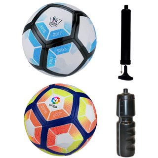 Kit of Laliga Blue/White + Laliga Orange/Yellow with Air Pump & Sipper
