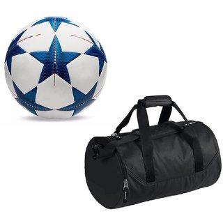Combo of Bluestar UEFA Champions League Football (Size-5)with Kit Bag