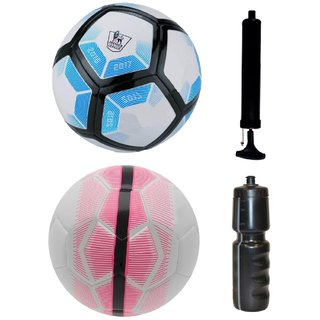 Kit of Laliga Blue/White + Mercurial White/Pink with Air Pump & Sipper