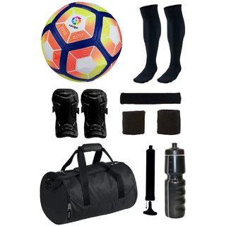 Combo of Laliga Red/Yellow Football (Size-5) with 7 Other items