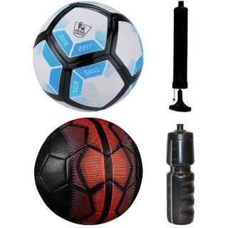 Kit of Laliga Blue/White + Mercurial Black/Red with Air Pump & Sipper