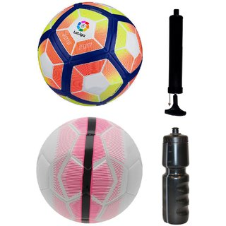 Kit of Laliga Pink/Yellow + Mercurial White/Pink with Air Pump & Sipper