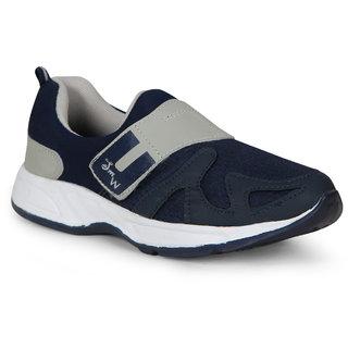 Smartwood Navyblue Gray Slip On  Running Sport Shoes