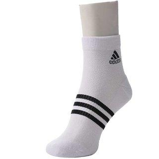 Adidas Cotton Ankle Socks - White (Set Of 1)