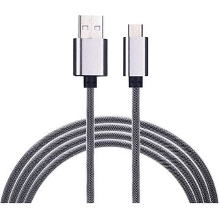 iPro Mc-40 Fast Charging indestructible Metalic Micro USB Data  Sync Cable USB Cable  (Grey, Silver)
