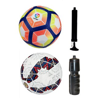 Kit of Laliga Pink/Yellow + Cachana Cope America 2015 with Air Pump & Sipper