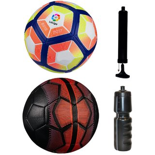 Kit of Laliga Pink/Yellow + Mercurial Black/Red with Air Pump & Sipper
