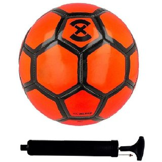 e1651da85 Buy Kit of Strike X Orange Football (Size-5) with Air Pump Needle Online    ₹1999 from ShopClues