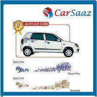 "Car GRAPHICS/DECALS ""Alto Ice Cube""(GLS – 171 G, 171 R)For MARUTI ALTO"