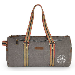 The House of Tara Vintage Travel/ Weekender/ Overniter/ Gym/ Duffle Bag (Stone Grey) HTD 126