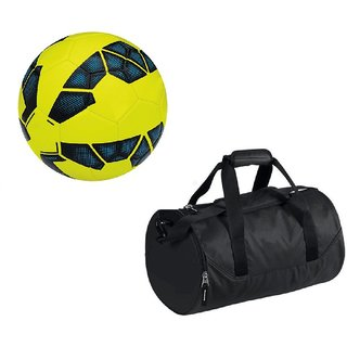 Combo of Premier League Yellow Football (Size-5) with Kit Bag