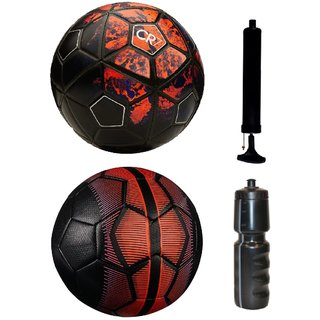 Kit of CR7 Black/Red + Mercurial Black/Red with Air Pump & Sipper