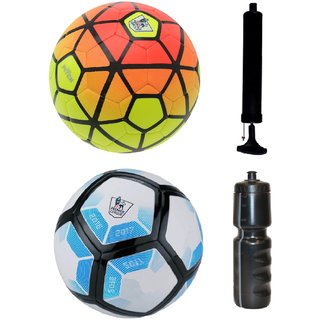 Kit of Ordem Pitch Orange/Yellow + Laliga Blue/White with Air Pump & Sipper