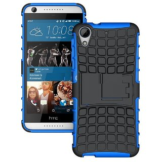 Style Imagine Kick Stand Hard Dual Armor Hybrid Rubber  Back Case Cover for HTC Desire 626