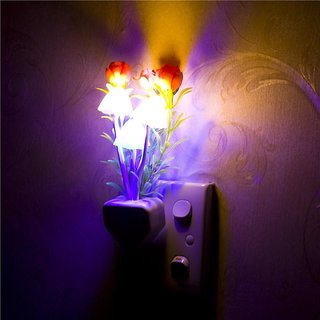 Colourfull Flower Mushroom LED Light Night Lamp Color Change Sensor lamp