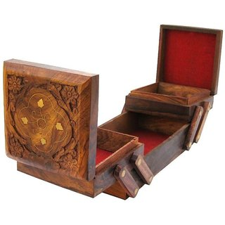 ikashan  Wooden Folding Jewellery Box