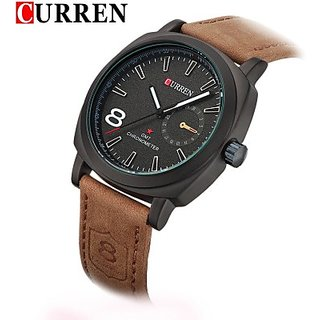 CURREN-NO8-LEATHER CASUAL MENS WATCH