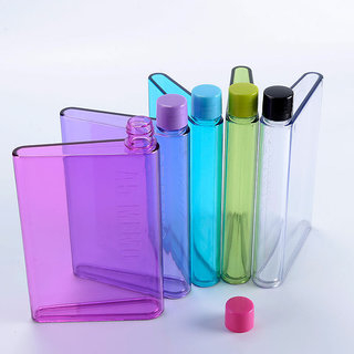 A5 Memo Note Book Ultra Slim Paper Bottle Flat Portable Water Bottle