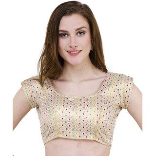 Naira Couture Brocade Light Golden Multi Brocade Readymade Designer Blouse
