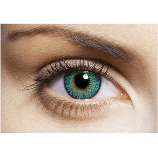 i-look Turquoise Colour Monthly(Zero Power) Contact Lens