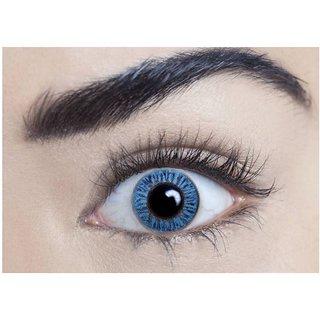 i-look Sky Blue Colour Monthly(Zero Power) Contact Lens